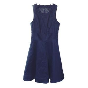 French Connection cotton navy fit & flare dress